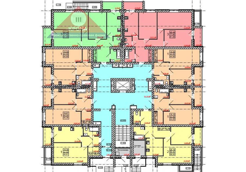 Дом №1, №2, №3, №4 1-й этаж