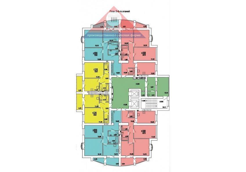План 2 - 6 этажей