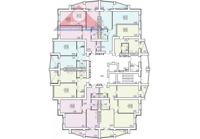 План  2 - 8-го этажей