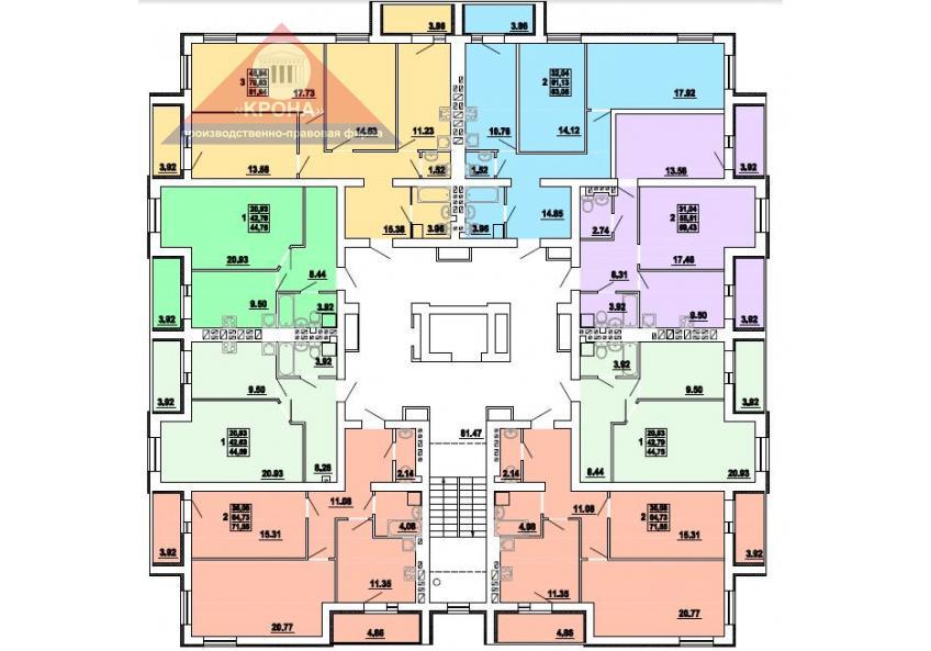 Дом №4   2 - 9 этажи