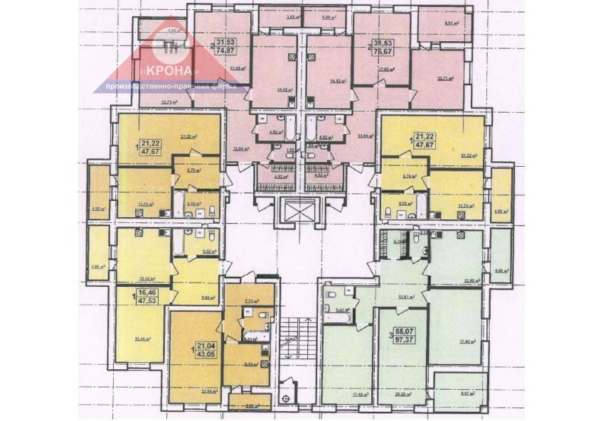 Дом А 2 - 9 этажи