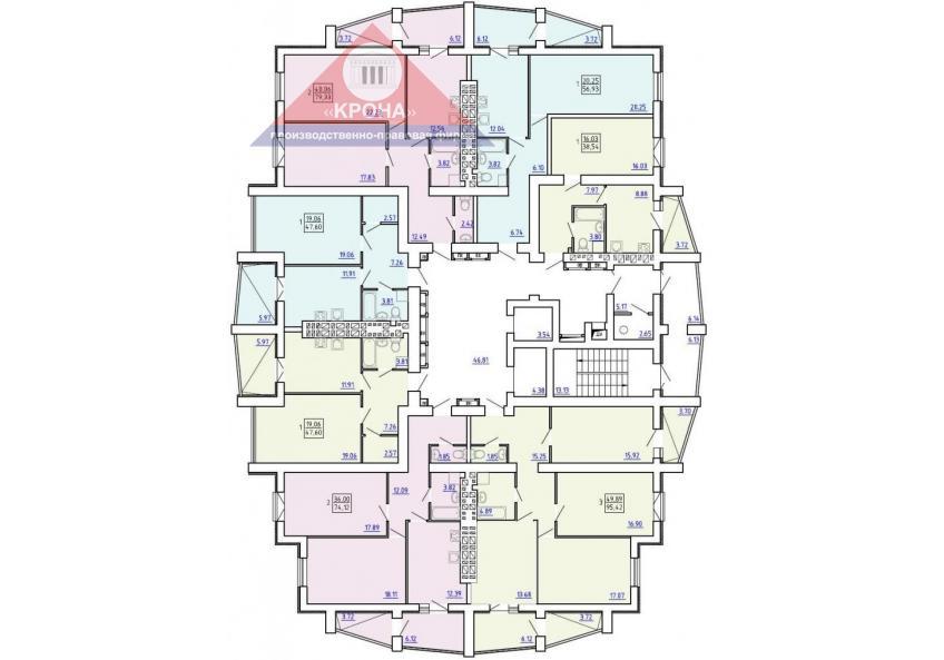 План  9 - 16-го этажей