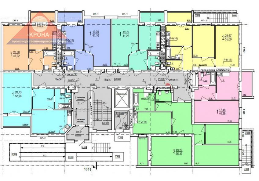 Дом №2  секция Б 1-й этаж