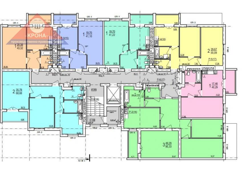 Дом №3  секция Б 2 - 9  этажи