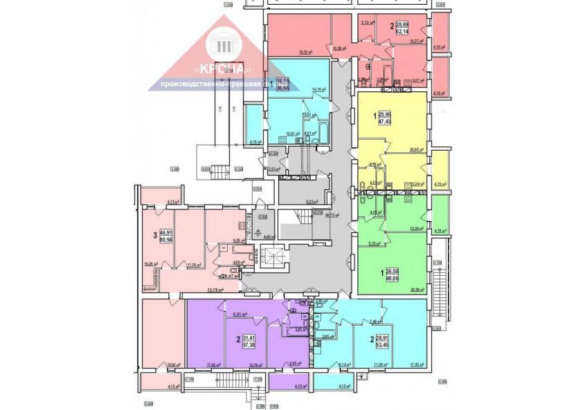 Дом №5  секция А 1-й этаж