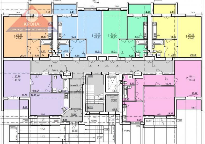 Дом №10 секция А 1-й этаж