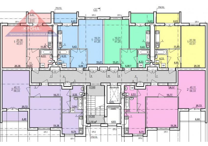 Дом №10 секция А 2-9 этаж