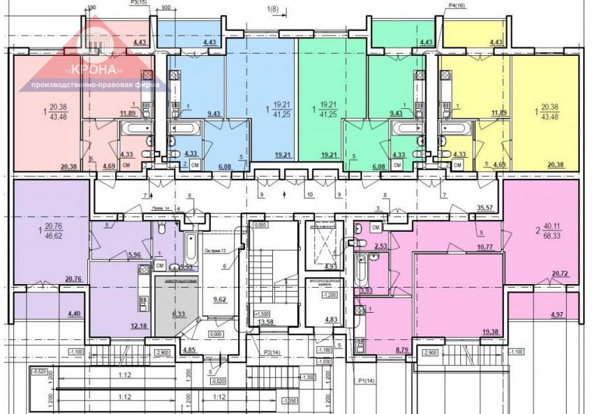 Дом №5 секция Б 1 этаж