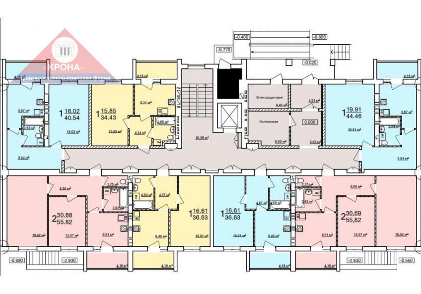 Дом №8 секция А 1-й этаж