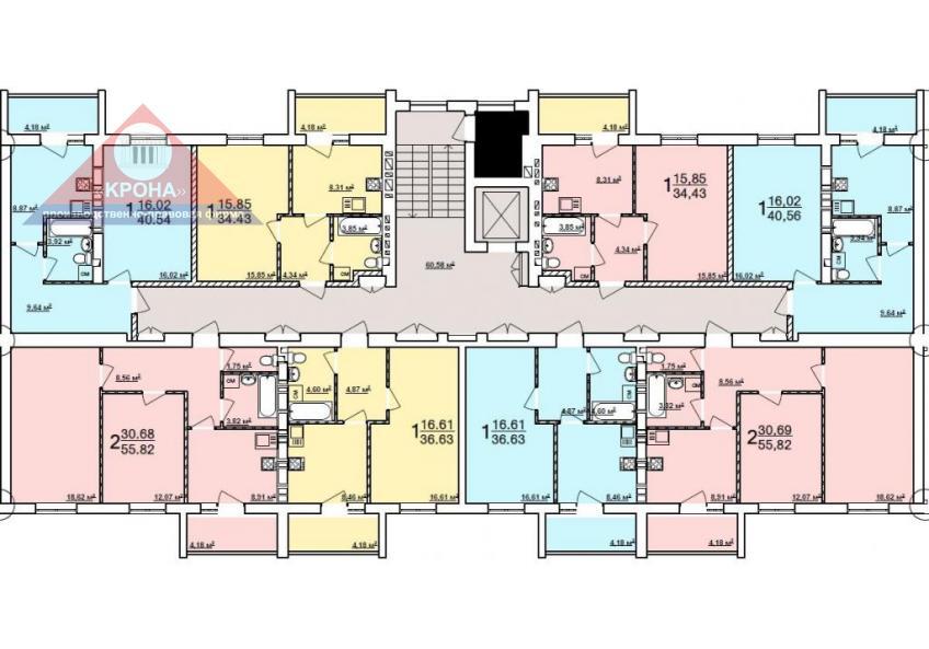 Дом №8 секция А 2-9 этаж