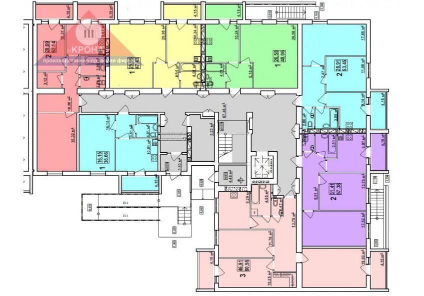 Дом №8 секция Б 1-й этаж