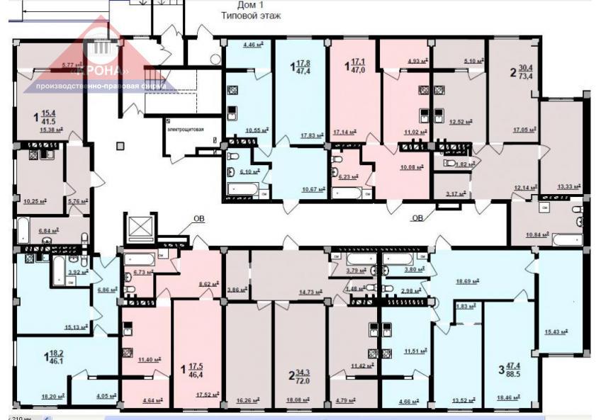 Дом №1   1-й этаж