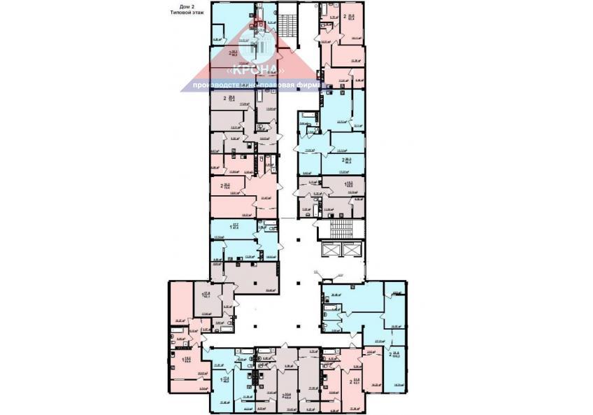 Дом №2   2 - 9 этажи