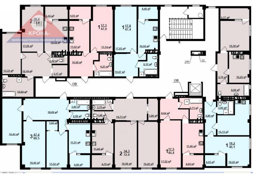 Дом №3   2 - 9 этажи