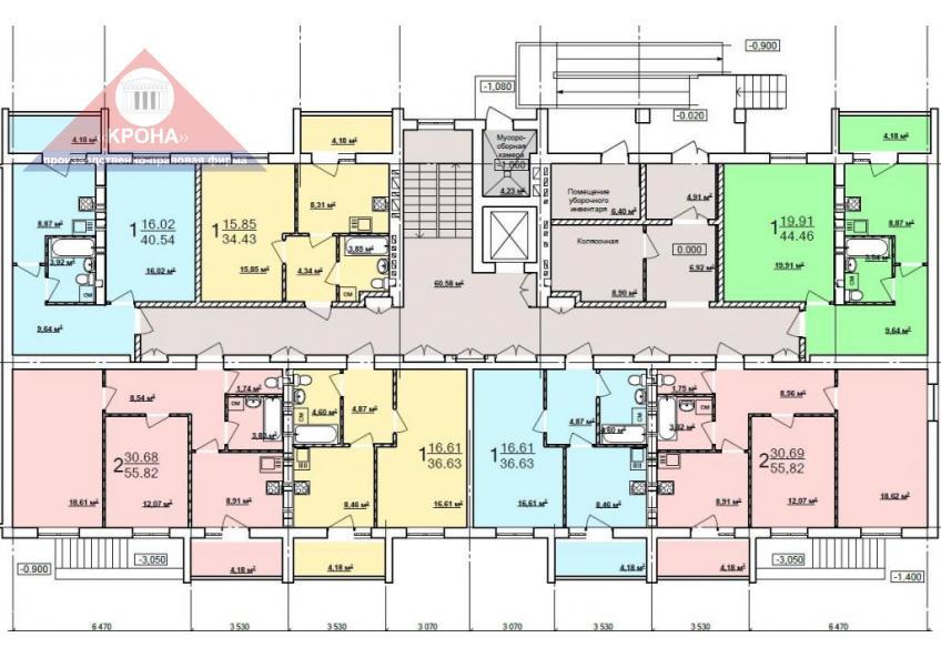Дом №4  секция А 1-й этаж