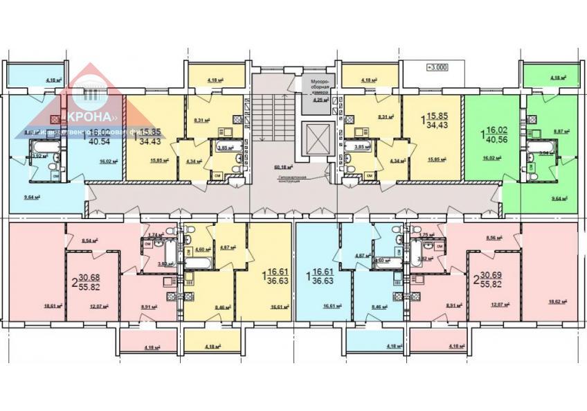 Дом №4  секция Б 2 - 9  этажи
