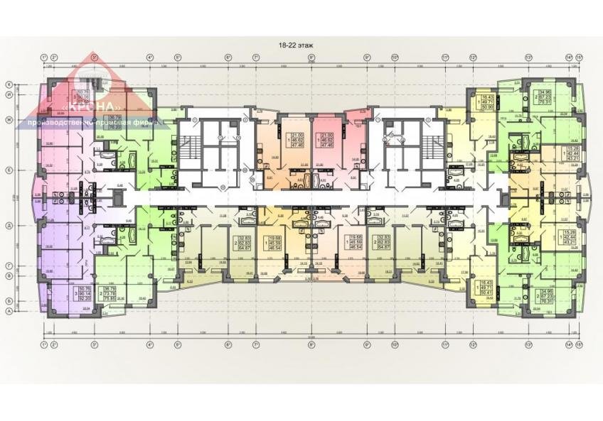 План жилого этажа