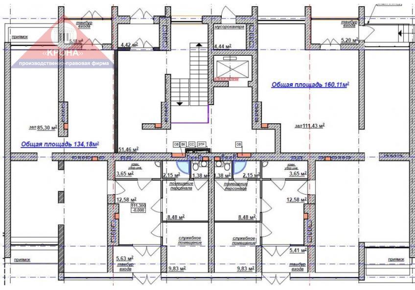 Секция А 1-й этаж