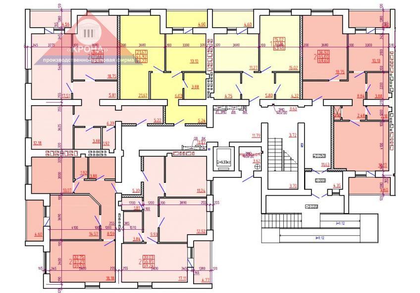 Дом №1 Секция А 1 этаж