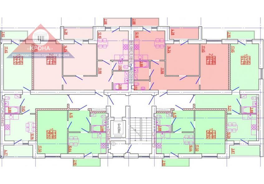Секция А 2 - 9 этажи