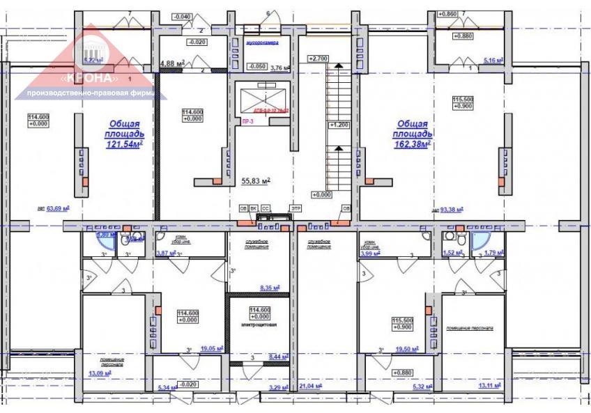 Секция Б 1 этаж