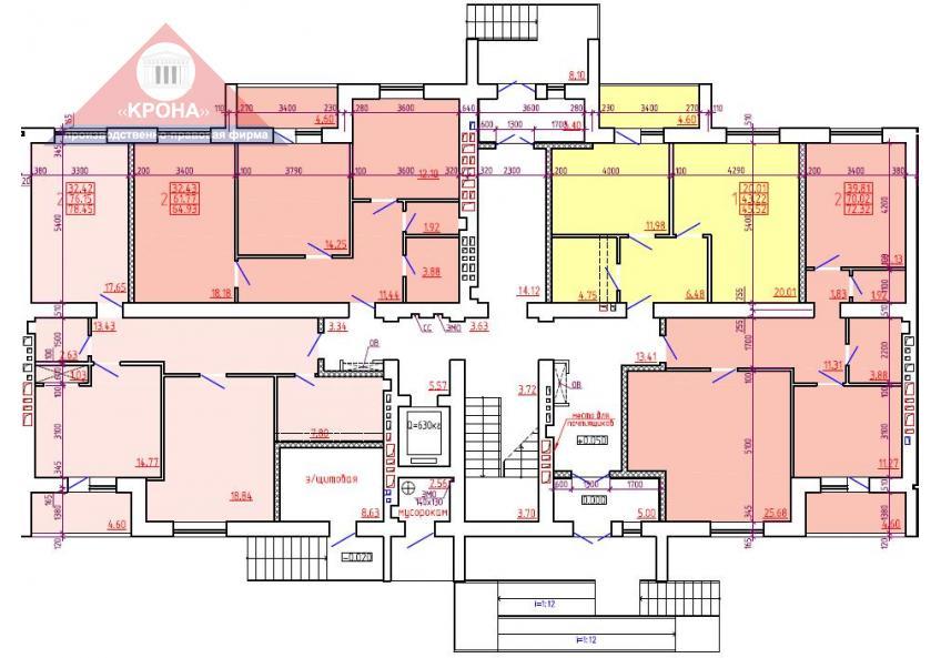 Дом №1 Секция Б 1 этаж
