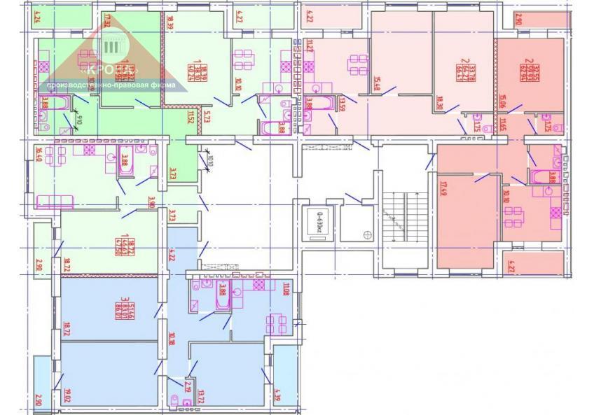 Секция Б 2-9 этажи