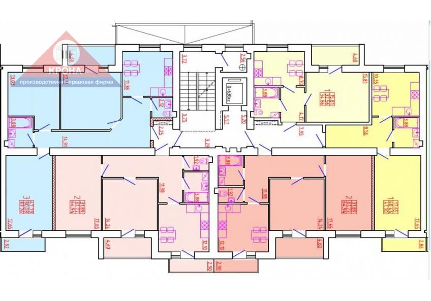Дом №5 Секция Д 2 - 9 этаж