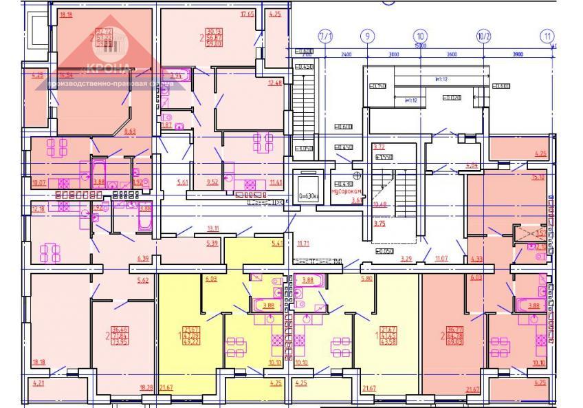 Дом №6 Секция И 1 этаж