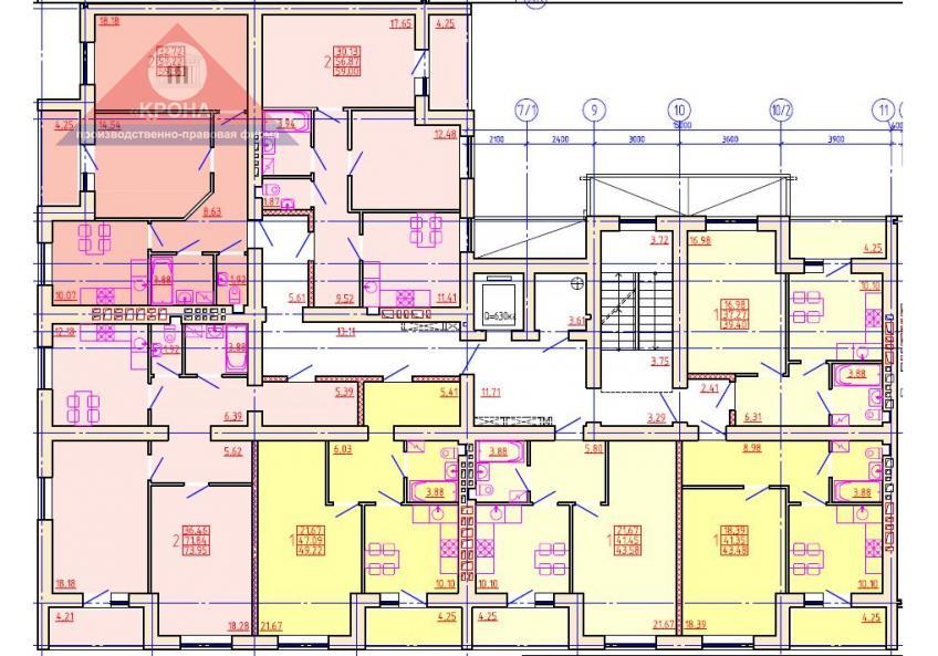 Дом №6 Секция И 2-9  этажи