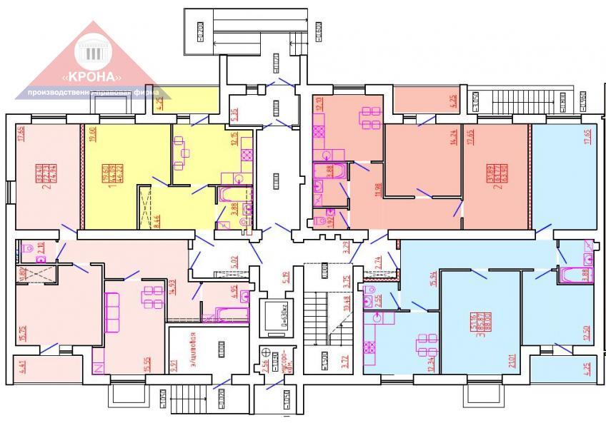 Дом №7 Секция К 1 этаж