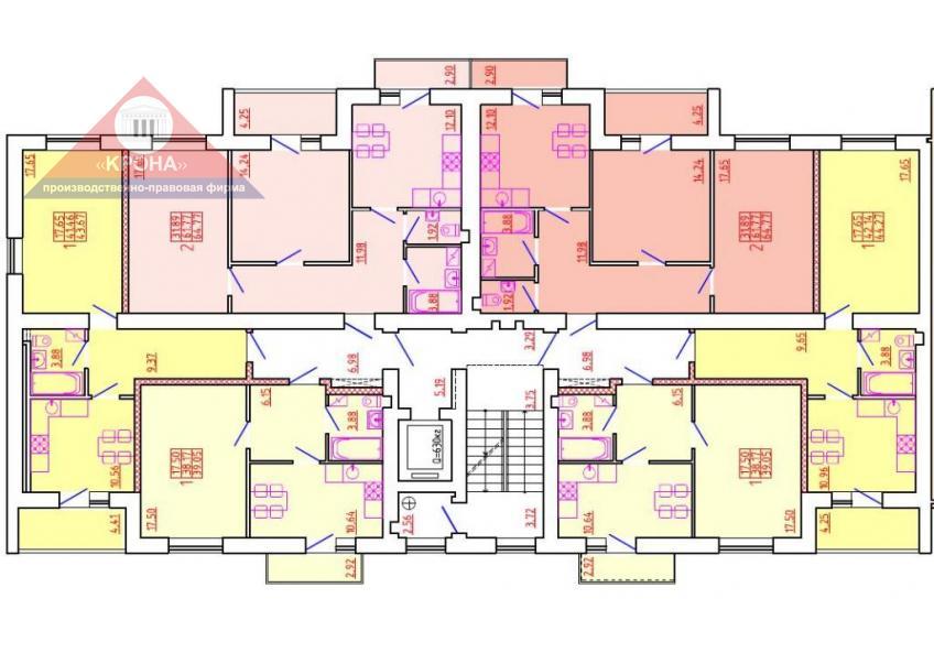 Дом №7 Секция К 2-9  этажи