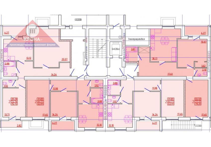 Секция В 1 этаж