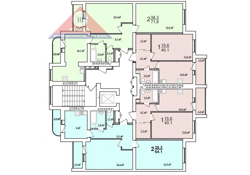 Секция В 2 - 9 этаж
