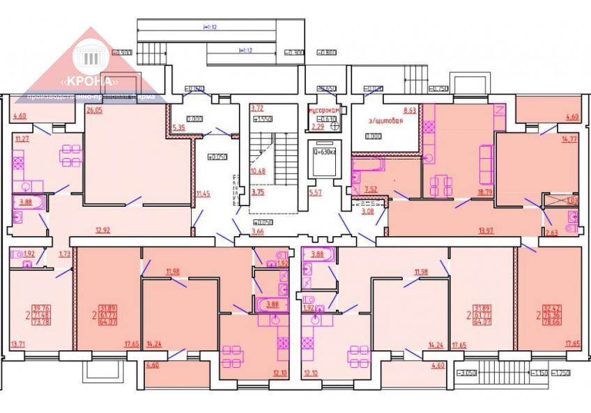 Дом №6 Секция Ж 1 этаж