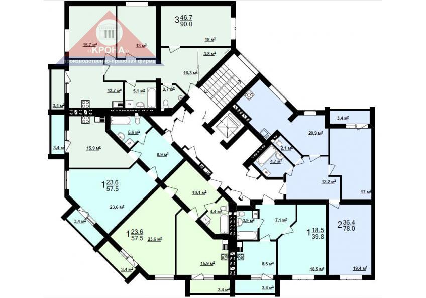 Секция Ж 2 - 9 этаж