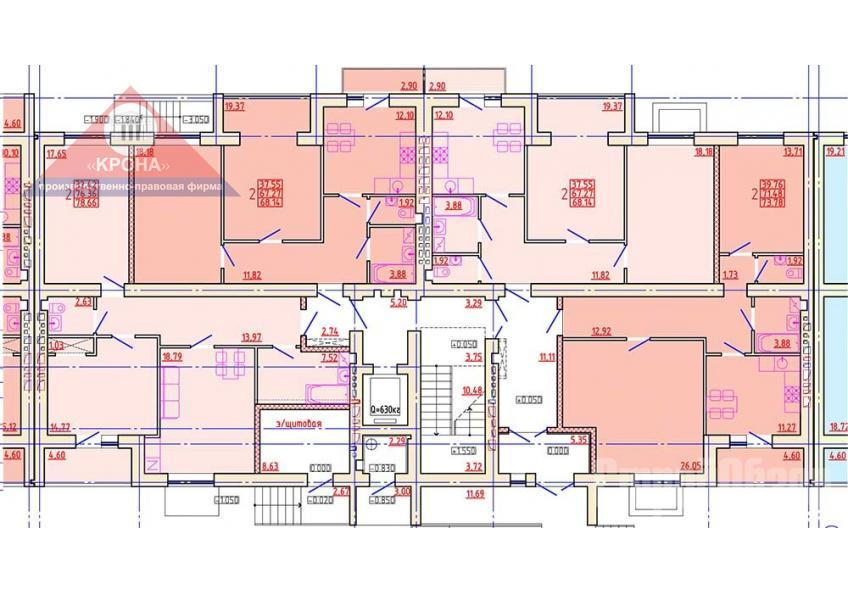Дом №3 Секция Б 1 этаж