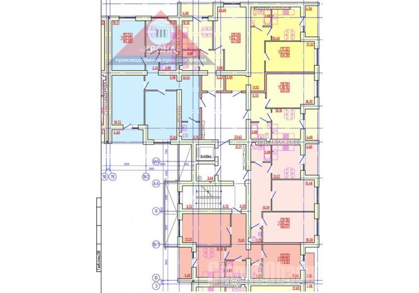 Дом №4 Секция В 2-9 этажи