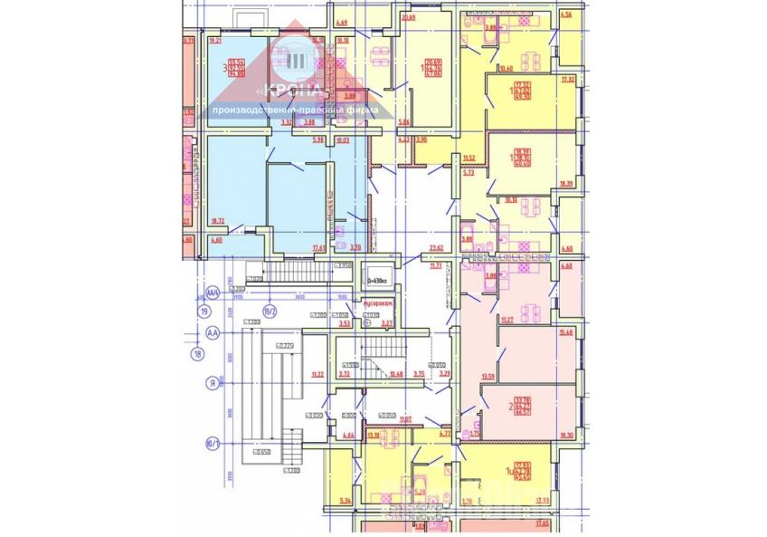 Дом №4 Секция В 1 этаж