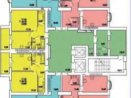 План 9 - 16 этажей