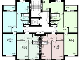 Секция Е 2 - 9 этажи